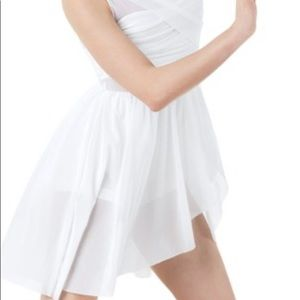 Balera Dance White Mesh Wrap Dress
